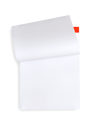 Whitelines Link 8 1/5 X 12 Grid Notepad