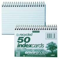 White 3 x 5 Index Cards Recycled Paper