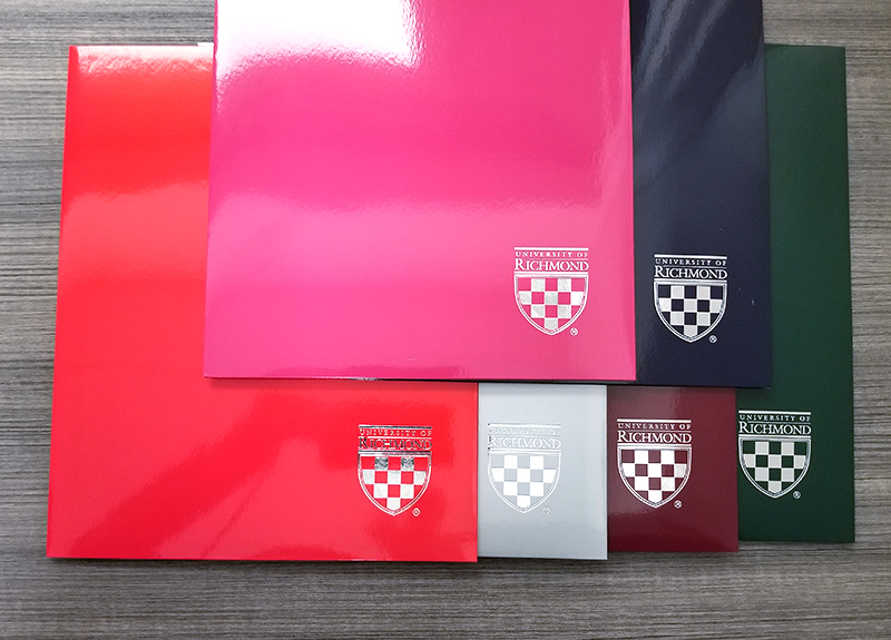 Laminated University of Richmond with Mini Crest Two Pocket Folder (SKU 102884431133)