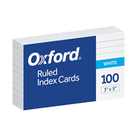 White 3 x 5 Inch Index Cards