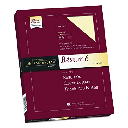 Resume Paper 8 1/2 x 11 Inch