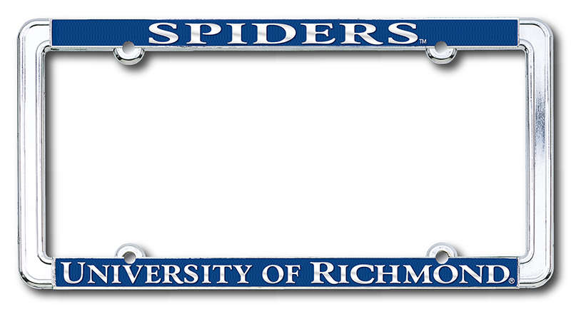 Chrome License Plate Frame with Spiders University of Richmond (SKU 100668811030)