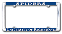 Chrome License Plate Frame with Spiders University of Richmond