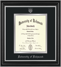 For Law Satin Silver wit Silver Leaf Diploma Frame