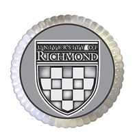 University of Richmond Crest Pewter Paperweight