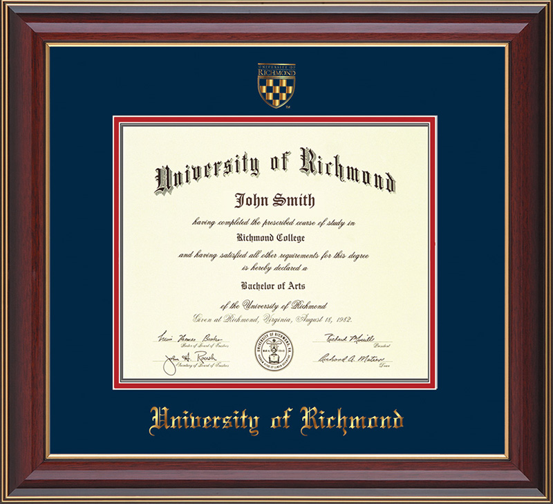 For Undergrad/MBA Cherry Lacquer with Seal Diploma Frame
