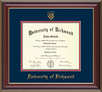 Diploma Frame Cherry Lacquer With Crest