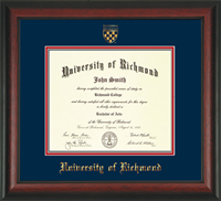 Diploma Frame Rosewood With Crest