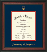 Law ROSEWOOD WITH CREST DIPLOMA FRAME