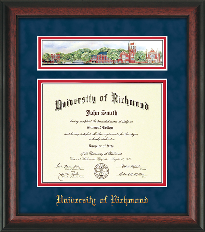 Undergrad/MBA Rosewood with 3D Collage Art Diploma Frame