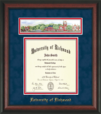 Law ROSEWOOD 3D COLLAGE DIPLOMA FRAME