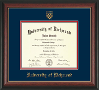Undergrad/MBA ROSEWOOD WITH GOLDEN LIP DIPLOMA FRAME