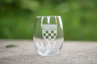 Stemless Wine Glass With Crest