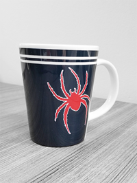 Mascot Mug With Red Spider