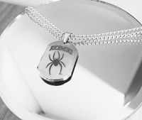 Silver Dogtag Pendant With Chain