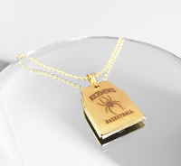 Gold Dogtag Pendant With Chain