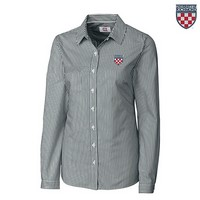 Cutter & Buck Women's Woven Shirt Crest (Navy/White)