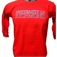 University Of Richmond Long Sleeve Youth Tee (Red)
