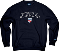 Blue 84 Crew University Of Richmond With Crest Embroidery