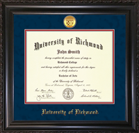 For Undergrad/MBA Vintage Black Scoop with Medallion Diploma Frame
