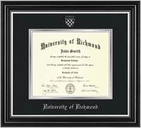 For Undergrad/MBA Satin Silver with Seal Diploma Frame