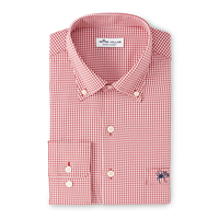 Peter Millar Polo Gingham with Mascot UR on Pocket