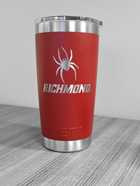 20 oz Yeti Tumbler with Mascot Richmond Red