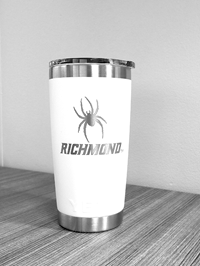 20 oz Yeti Tumbler with Mascot Richmond White