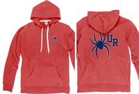 Blue 84 Tri-Blend Hoodie with Mascot with Back