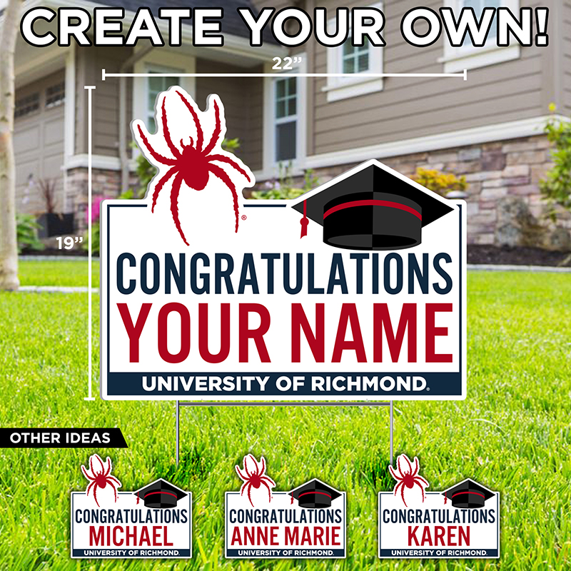 Lawn Sign Mascot Congratulations First Name (SKU 114078981175)