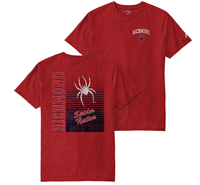 League Tee with Richmond Mascot on Front Richmond Spider Nation on Back