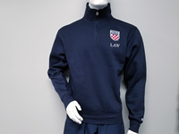 Blue 84 1/4 Zip With Crest Law