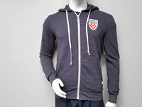 Blue 84 Full Zip Hoodie With Crest