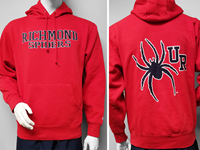 Blue 84 Hoodie with Richmond Spiders and Mascot on Back