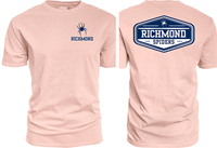 Blue 84 Tee with Mascot Richmond and Back