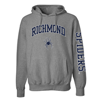 MV Sport Hoodie with Richmond Mascot with Spiders on Sleeve