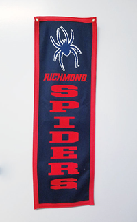 Mascot Richmond Spiders Wool Felt Banner