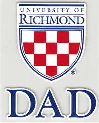 University of Richmond Crest with Dad Outside Decal