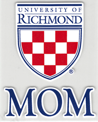 University of Richmond Crest with Mom Outside Decal