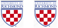 Two University of Richmond Crests 2 1/2 Inch Outside Decal
