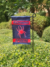 Mini Garden Flag with Richmond Mascot Spiders with Stand