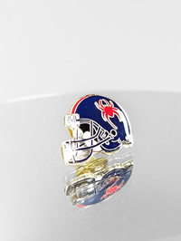 Football Helmet Navy Pin