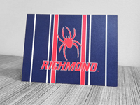 Set of 10 Blank Cards with Envelopes Mascot Richmond Stripes