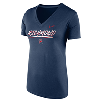 Nike Ladies V Neck with Richmond Mascot